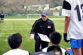 PEP-TALK: Robin Chitrakar, the National Football Academy Under-16 coach.