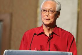 Mr Goh Chok Tong at the Marine Parade National Day dinner on Friday