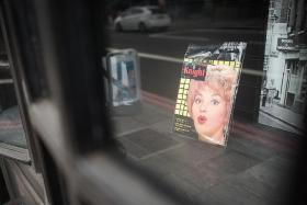BLUSH, BLUSH: A vintage porn magazine on display at Ram Books in London. The shop's owner, Dave, helps people whose dead relatives leave erotic collections behind to prudently remove them.
