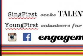 SingFirst Facebook post which is calling for young volunteers