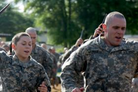 Soldiers on the Ranger Course at Fort Benning, Georgia