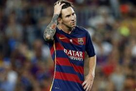 OH NO:Football fans in Singapore will not be able watch Lionel Messi (above) lead Barcelona's title defence on TV this season.