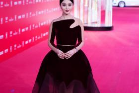 Chinese actress Fan Bingbing poses on the red carpet during the opening ceremony of the Shanghai International Film Festival (SIFF) in Shanghai two months ago.