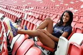 SOLE REPRESENTATIVE: Shanti Veronica Pereira (above) will be competing in the 200m at the world championships in Beijing.