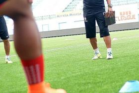 WE MUST WIN: Fandi Ahmad (above) has warned his team not to underestimate cellar-dwellers Sime Darby.
