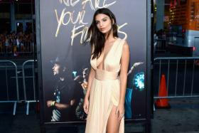 Emily Ratajkowski at the premiere of We Are Your Friends in Hollywood on Aug 20, 2015.