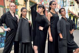 (From left) Niqi Chass, 23; Marie Vanessa Chang, 18; Joeypink Lai, 23; Samradha Sanjeev, 18; and Selynna Norhisham, 22.