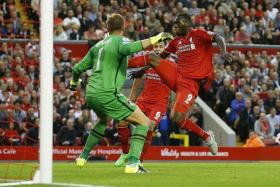 GOAL: Benteke at his predatory best, scoring the only goal against Bournemouth.