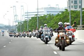 GO! Bikers from Singapore, Malaysia and Indonesia passed Singapore's iconic landmarks yesterday during the Merdeka Ride.
