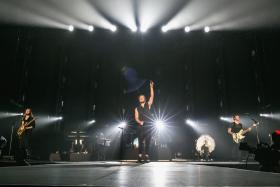 Imagine Dragons frontman Dan Reynolds showed off his playful side throughout the band's first Singapore gig.