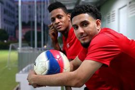 OFFENSIVE DUO: The return of Jordan Webb (far left) and Sherif El-Masri has given a fresh impetus to the Courts Young Lions' attack.