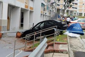 CRASH: A 69-year-old female driver rammed into a 65-year-old woman while attempting to park her car in Bukit Panjang.