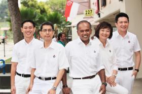 (From left to right) Mr Louis Ng, Associate Professor Muhammad Faishal Ibrahim, Mr K. Shanmugam, Dr Lee Bee Wah, Mr Henry Kwek.