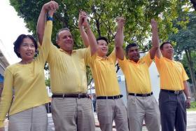 TEAM: (From left) Miss Noraini Yunus, Mr Kenneth Jeyaretnam, Mr Andy Zhu, Mr Kumar Appavoo and Mr Darren Soh.