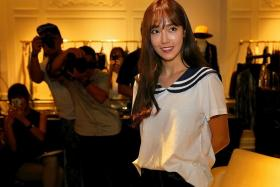 COMPOSED: Jessica Jung launched her fashion line BLANC & ECLARE at multi-label boutique Salon by Surrender at Marina Bay Sands.
