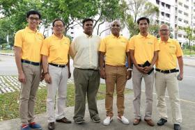 TEAM WITH 'A DIFFERENT ENERGY': (From left) Activist blogger Roy Ngerng, former banker Jesse Loo, infocomm trainer Siva Chandran, lawyer M. Ravi, entrepreneur Osman Sulaiman and career counsellor Gilbert Goh.