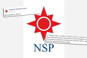The National Solidarity Party have lodged a police after four strangers entered their offices without permission.
