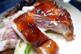 ROASTED DELIGHTS: Roast duck.