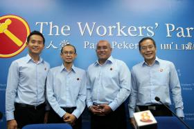 CANDIDATES: (From left) Kenneth Foo, Mohamed Fairoz Shariff, Gurmit Singh and Dennis Tan.