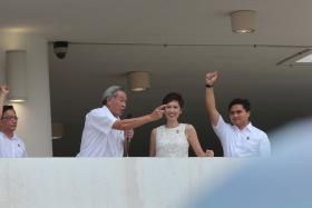 Defence Minister Ng Eng Hen, who's part of the Bishan-Toa Payoh GRC, speaking on nomination day.