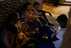 SQUATTERS: Six Indian workers have been living in the alleys off Cuff Road since July.