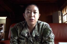 Ms Khou Yang (above), a sailor with the US Navy, is shocked that her video invite to Big Bang's Taeyang has gone viral.