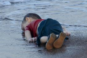 HEARTBREAKING: The picture of this drowned three-year-old refugee dominated the front pages of European newspapers.