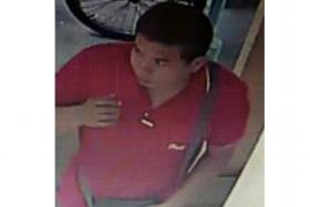 Police are looking for the pictured man in connection with a case of insulting a woman's modesty.