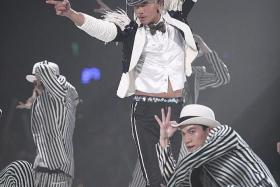 POWER-PACKED: Aaron Kwok's concerts are always energetic affairs, with the man himself performing many of the acrobatic dance moves.