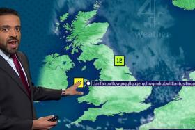 A video of a weatherman pronouncing Llanfairpwllgwyngyllgogerychwyrndrobwllllantysiliogogogoch has gone viral