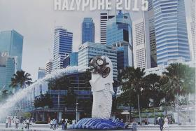 One of the witty works of Singaporeans who are trying to be positive during the haze.