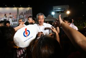 LATE: Prime Minister Lee Hsien Loong said at yesterday's rally that the suggestions put forward by the opposition had already been implemented by the People's Action Party years ago.