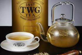 Gold yin zhen tea (above).
