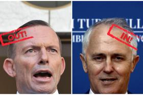 Australian Prime Minister Tony Abbott (left) was dramatically ousted on Monday in a snap party vote forced by challenger Malcolm Turnbull (right).