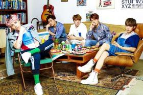 NOT RECOGNISED: FTIsland (above) and CNBlue have been invited to rock festivals overseas but are not recognised as legitimate bands in Korea.