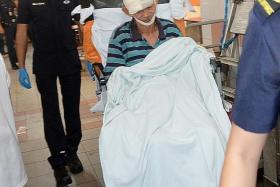 HURT: The husband was taken to the Singapore General Hospital with injuries to his face and head.
