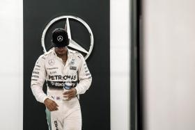 """""""I was feeling superoptimistic in the car, I really was."""" — Mercedes' Lewis Hamilton (above) on his chances going into the Singapore Grand Prix."""