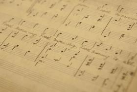 The manuscript of Good Morning to All, the 19th century song that spawned the popular Happy Birthday song.