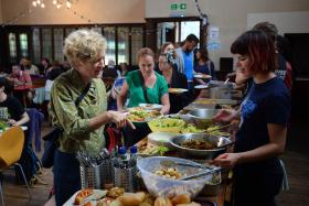 STILL GOOD: A Real Junk Food Project cafe in Brighton, southeast England, serving food that is 'out-of-date' under trading rules.