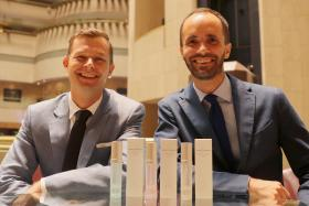 EXCITED: Mr Mattias Hulting (left) and Mr Peder Wikström say the Smile Makers have taken off in a huge way in Singapore.