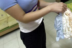 File picture of disappearing panties. Someone's been busy stealing women's underwear from NTU Hall 6 Block 33.