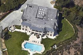 LAVISH: A Google Street View of the US$37 million Beverly Hills mansion that the prince was renting.