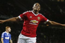 YOUNG GUN: Anthony Martial (left) has scored four goals in five games but he is just 19.