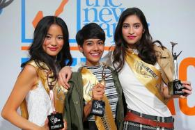 VICTORY: (Above, from left) 2nd runner-up Lee Qian Hui, Winner Selynna Norhisham and 1st runner-up R Namethawith their trophies.