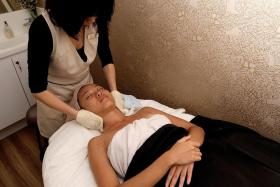 RELAX: Enjoying the Revitalising Collagen Facial treatment at Spa Infinity in Suntec City Mall.