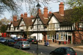 The village of Bournville, near Birmingham, famous as the home of Cadbury's chocolate