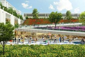 CONVENIENT: An artist's impression of Oasis Terraces, the new-generation neighbourhood centre at Punggol.