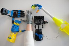 CHOOSE YOUR HAND: The e-Nable community has developed a collection of different devices that are free for download and can be fabricated by anyone. They come in different colours which appeal to children and have cool-sounding names like Raptor Hand, Cyborg Beast and Talon Beast.