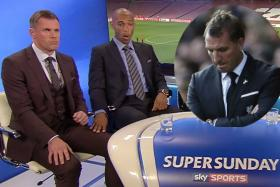 Thierry Henry reacting to Brendan Rodgers' sacking.