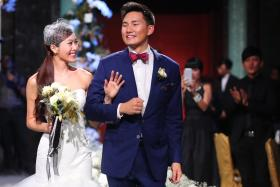 MR AND MRS: Mr Darren Cheng and Ms Jenny Tay tied the knot yesterday and hosted a dinner reception at Shangri-La Hotel.